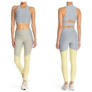 Outdoor Voices Dipped Yellow/Blue Warmup Leggings